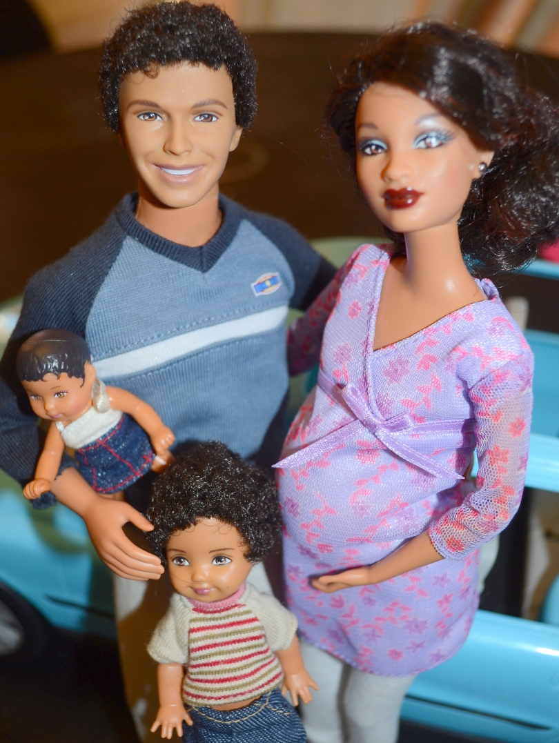 Our version of Mattel's Happy Family - Midge has surgery to reduce the size of her forehead.