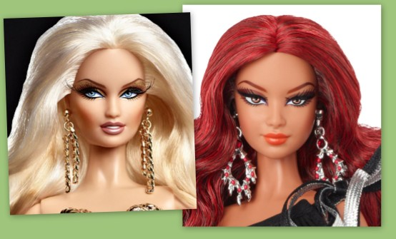 Mattel overdoes makeup from time to time.